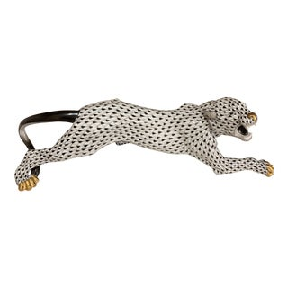 Modern Herend Porcelain Panther Model For Sale