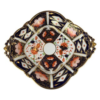 """""""Traditional Imari"""" Pattern 2451 by Royal Crown Derby-Lozenge Shaped Server For Sale"""
