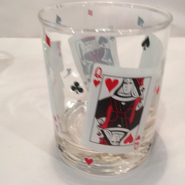 Poker Playing Card Lowball Glasses- Set of 4 - Image 5 of 11