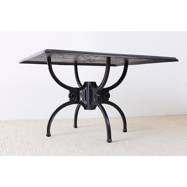 Neoclassical Molla Style Cast Aluminium Garden Dining Table For Sale - Image 9 of 13