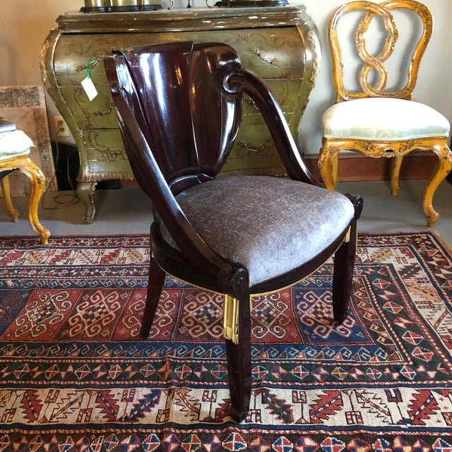 1920s Vintage Sue Et Mare David Weill Art Deco Side Chair For Sale - Image 4 of 13