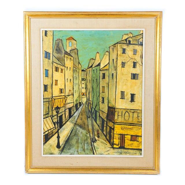 Charles Levier - Paris Street Scene - Oil Painting - Image 1 of 9