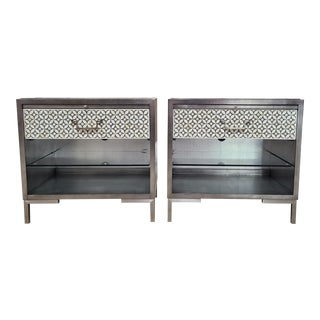 Vanguard Furniture Holland Bone Inlay Night Stands (Set of 2) For Sale