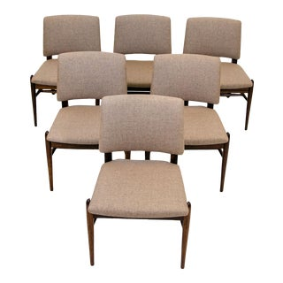 Vintage Brown Saltman Dining Chairs by John Keal - Set of 6 For Sale