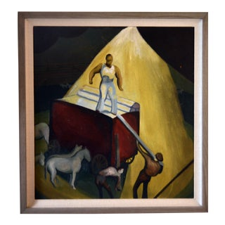 1930-40s Modernist Wpa Oil Painting For Sale