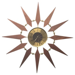Mid Century Atomic Elgin Starburst Clock