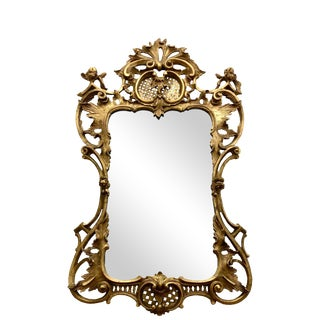 19th Century English Georgian Style Carved Gilt Wood Mirror For Sale