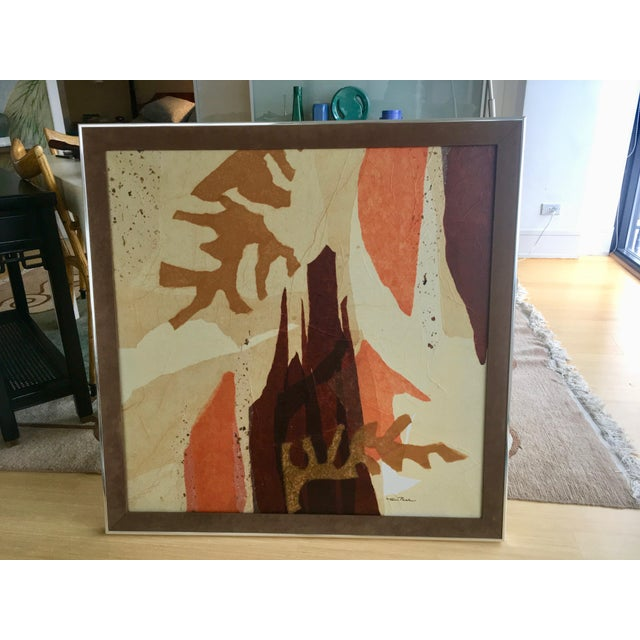 Large Mid-Century Abstract Mixed Media Collage by Tom Paar For Sale - Image 9 of 9