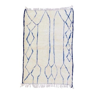 Moroccan Beni Ourain Hand Knotted Rug-5′5″ × 8′ For Sale