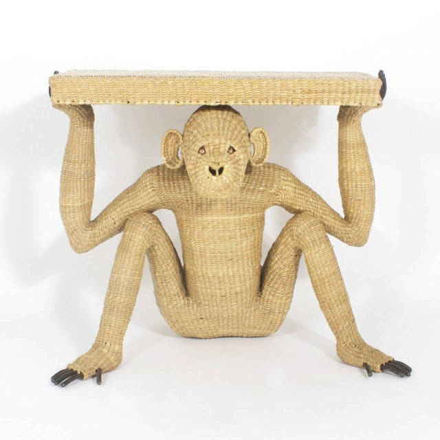 Mid-Century Modern Mario Torres Chimpanzee or Monkey Console For Sale - Image 3 of 9
