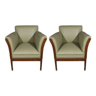 Early 20th Century Vienna Secessionist Influenced Chairs - a Pair For Sale