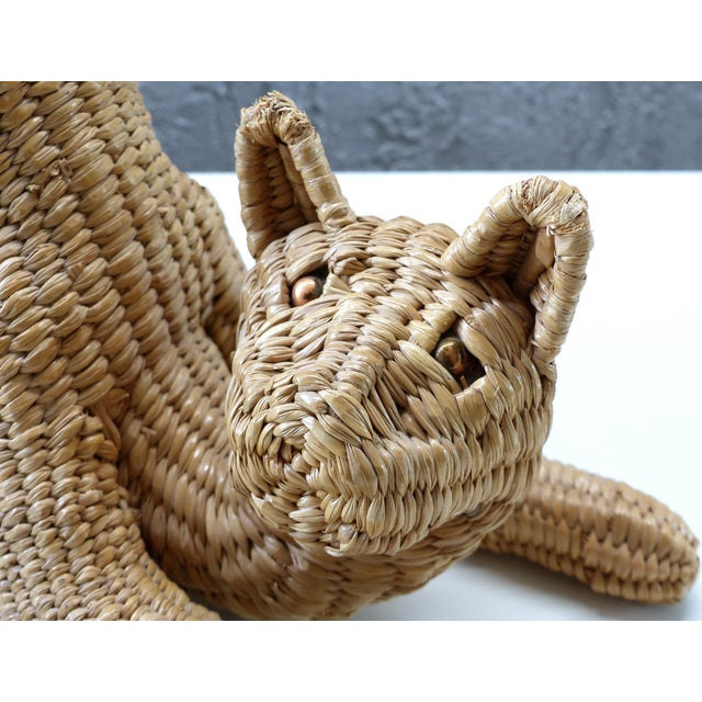 Mid-century Cat Sculpture by Mario Lopez Torres (Mexico), signed & dated 1974 For Sale - Image 10 of 11