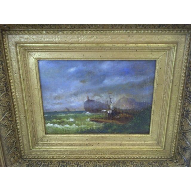 """Original Painting """"The Shipwreck"""", Circa 1840 For Sale - Image 4 of 8"""