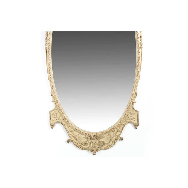 Adam's Style Cream Painted Wall Mirrors - A Pair - Image 3 of 10