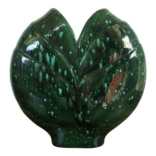 Large Vintage 1960s Mid Century Modern Ceramic Pillow Vase. For Sale