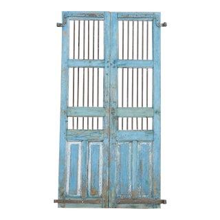 Haveli Turquoise Jali Door For Sale