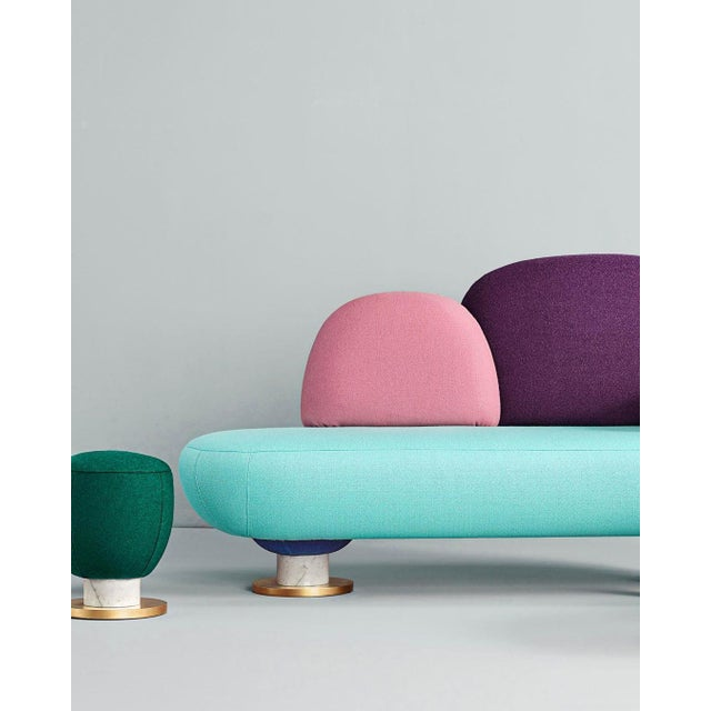 Toadstool Collection Ensemble Sofa, Table and Puffs, Masquespacio For Sale - Image 12 of 13
