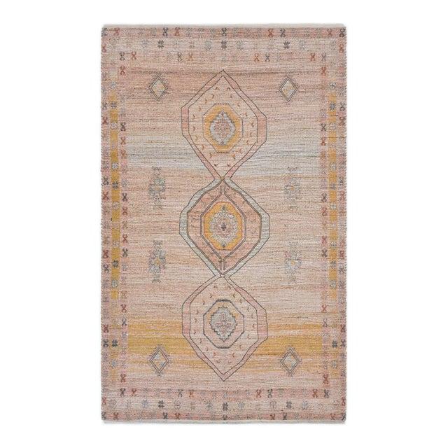 Naina, Bohemian Moroccan Hand Loom Area Rug, Blush, 9 X 12 For Sale - Image 9 of 9