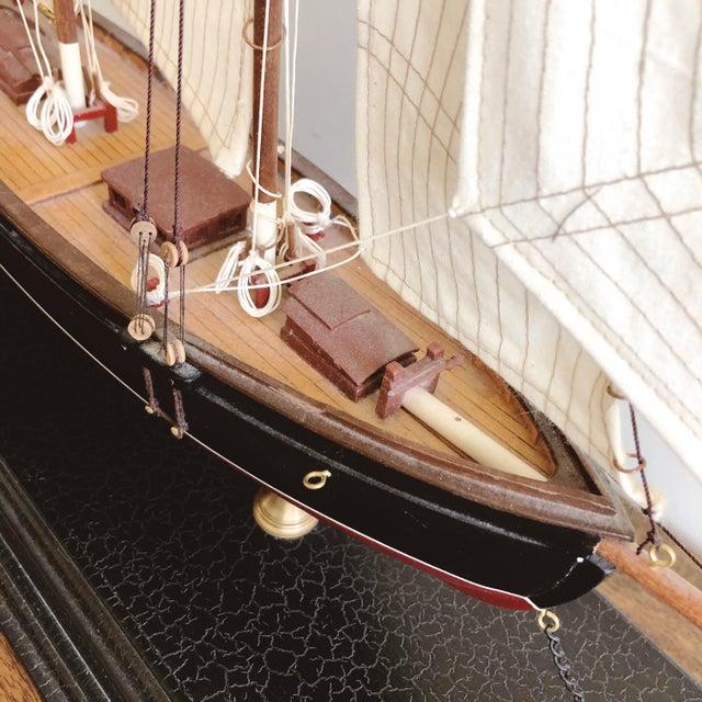 "Vintage New York Pilot Boat ""Phantom"" 1868 Model For Sale - Image 4 of 8"