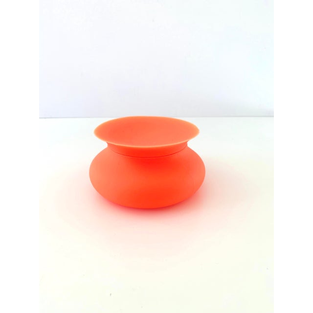 Plastic Modern Orange Silicone Vessel For Sale - Image 7 of 7