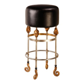 Armory Tall Black Bar Stool For Sale