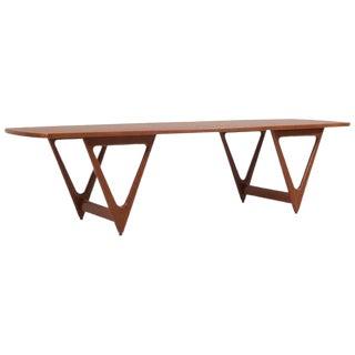 "1950s ""Surfboard"" Coffee Table by Kurt Østervig for Jason Møbler, Denmark For Sale"
