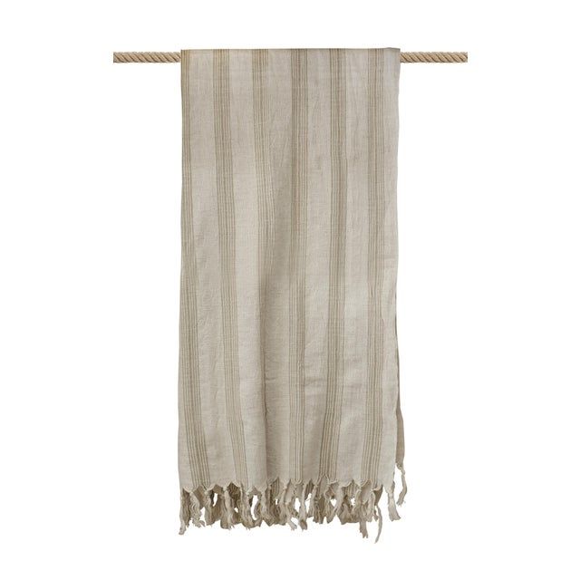 Fiber Turkish Hand Made Towel With Natural/Organic Cotton and Fast Drying,37x73 Inches For Sale - Image 7 of 11