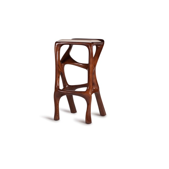 Not Yet Made - Made To Order Amorph Chimera Bar Stool, Stained Walnut For Sale - Image 5 of 13