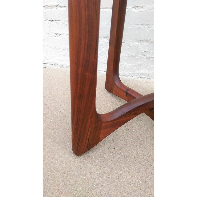 Adrian Pearsall Round Walnut Side Table - Image 4 of 5