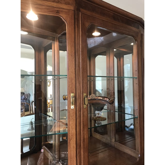Asian Thomasville Mystique Dining Room China Cabinet For Sale - Image 3 of 11