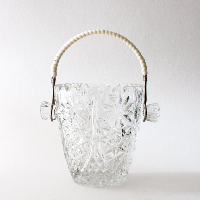 Crystal Ice Bucket With Wrapped Handle - Image 2 of 4