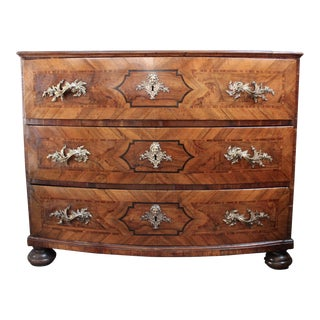 Antique 1750 Baroque Walnut Commode
