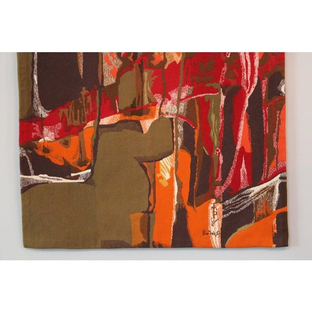 """Fabric Mathieu Matégot Tapestry Titled """"19 Composition"""" For Sale - Image 7 of 10"""