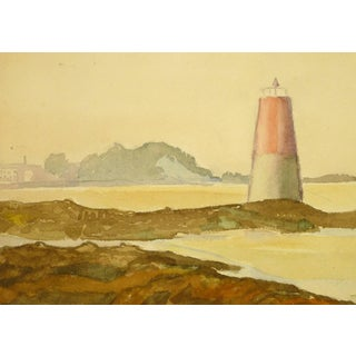 Watercolor of Lighthouse For Sale