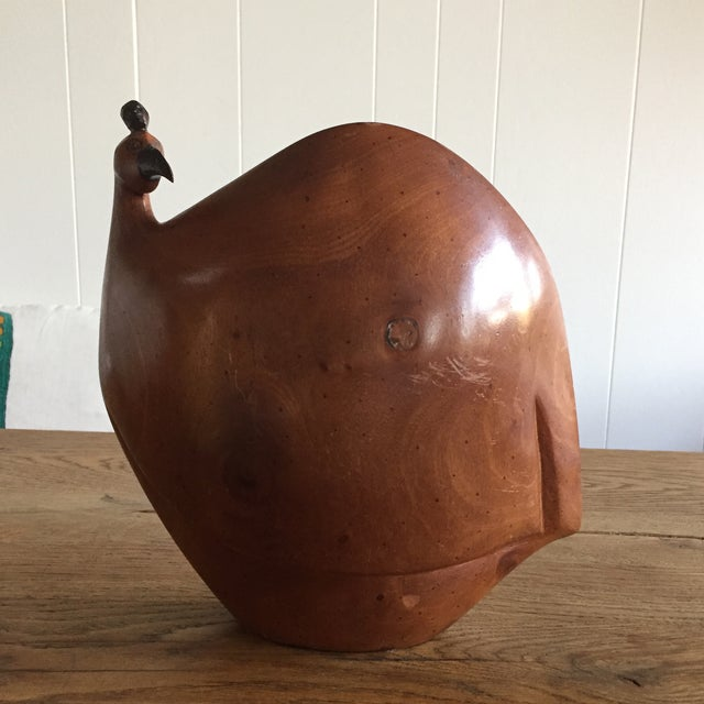 Vintage Mid-Century Wood Rooster Sculpture - Image 2 of 10