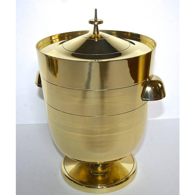 Gold 1950s Vintage Tommi Pazinger for Dorlyn Brass Ice/Champagne Bucket For Sale - Image 8 of 11