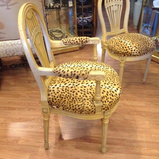Maison Jansen Set of 4 Jansen Style Balloon Back Chairs For Sale - Image 4 of 12