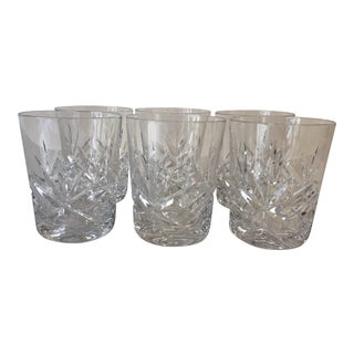 "1980's Gorham Crystal ""Lady Anne"" Pattern Set of 6 Short Tumblers For Sale"