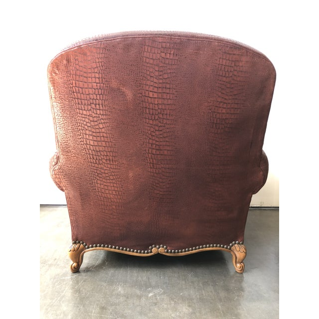 Ralph Lauren Home Marseilles Leather Club Chair For Sale In Raleigh - Image 6 of 10
