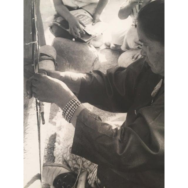 "Native American 1950s Navajo Blanket Weaver Original Photograph 16"" X 20"" For Sale - Image 3 of 5"