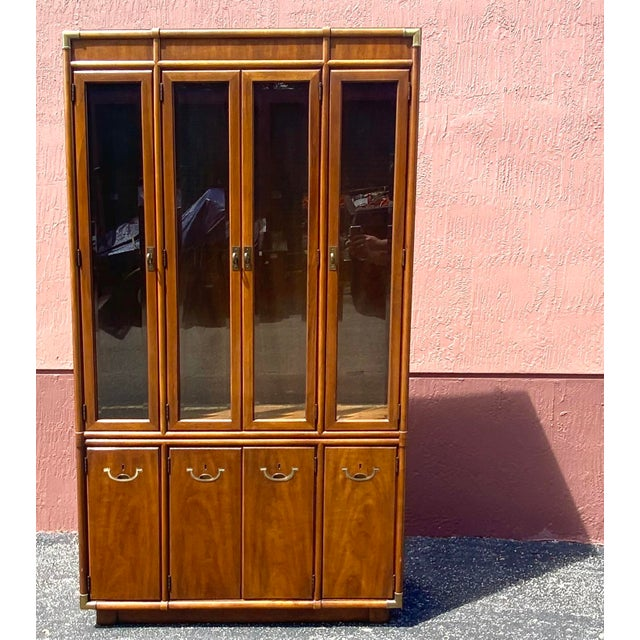 Drexel Accolade Campaign China Cabinet For Sale - Image 9 of 12