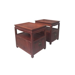 Mid-20th Century Hongmu End Tables - a Pair For Sale
