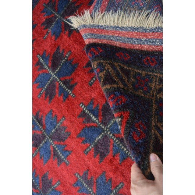 Vintage Afghan Hand Knotted Rug - 4′1″ × 6′10″ For Sale - Image 4 of 6