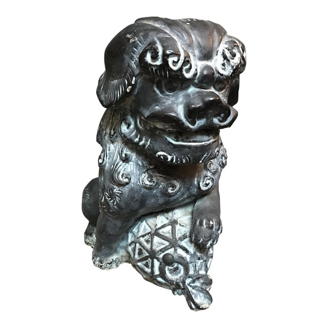 Cement Foo Dog Statue - Image 1 of 10