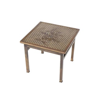 Philip and Kelvin LaVerne Bronze Kuan Su Side Table For Sale