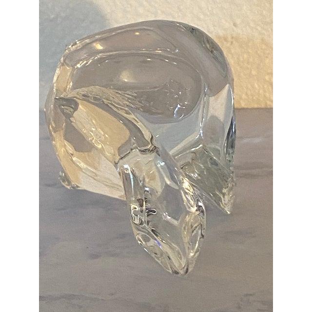 Glass Vintage Baccarat Crystal Snake For Sale - Image 7 of 8