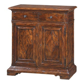 George III Antiqued Wood Side Cabinet For Sale