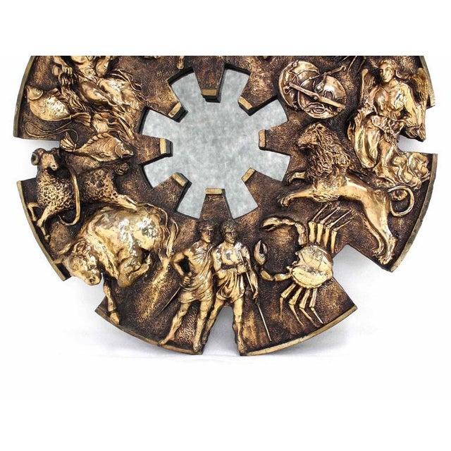 Round Zodiac Sunburst Wall Mirror For Sale - Image 9 of 9