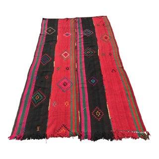 1990s Handmade Turkish Kilim Rug - 5′9″ × 11′2″ For Sale