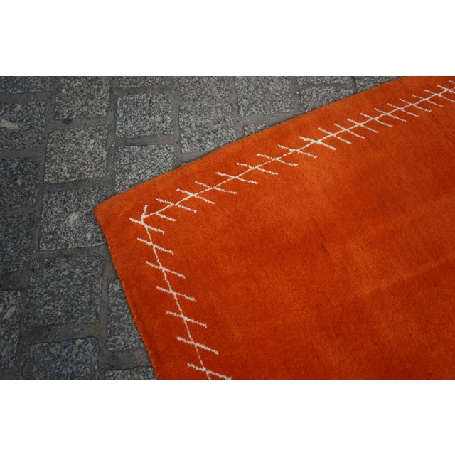 Silk Boccara Exclusive Limited Edition Artistic Wool Rug, Hermès For Sale - Image 7 of 8